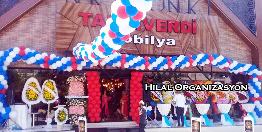 dükkan açılış organizasyonu balon süsleme