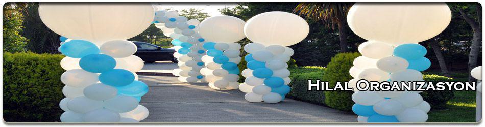 balon süsleme zincir balonlar