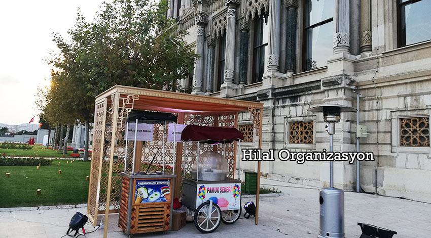 pamuk şeker arabası ve dondurmacı kiralama