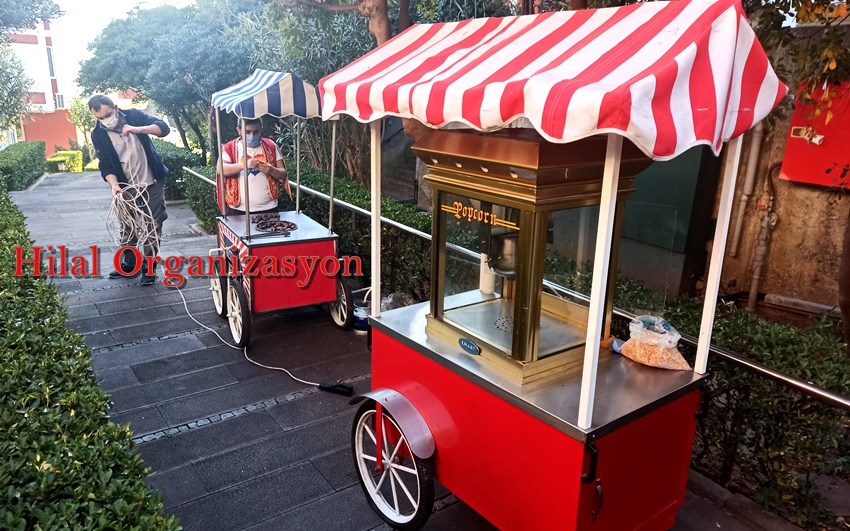 Beşiktaş Patlamış mısırcı ve popcorn kiralama