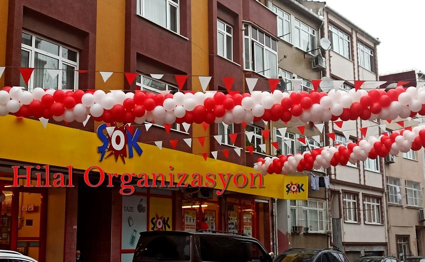 market açılışı balon süsleme
