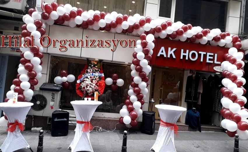 işyeri, mağaza, dükkan açılışı balon süslemeler