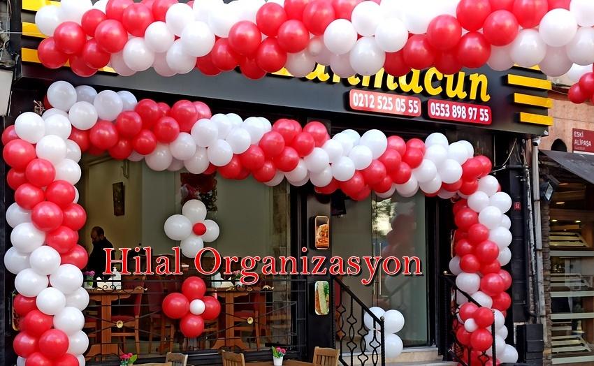 dükkan açılışı balon süsleme hizmeti